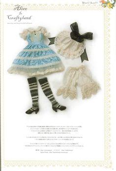 "Alice in Wonderland Outfit BJD Sewing Pattern  MSD 1/4 42cm ( 16"" ) PDF. $6.90, via Etsy."