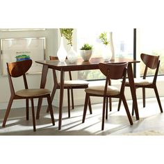 Dining Room Furniture Jacksonville Fl See More Peony Retro Chestnut And Leatherette 5 Piece Set