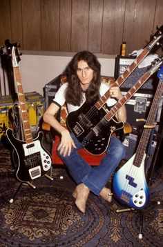 Geddy Lee with some of his exquisite collection.