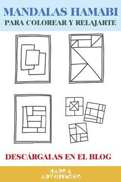Descarga gratis en el blog estas mandalas en forma de patchwork. Distintos diseños de mantas y cojines para colorear, diseñar tu propia pieza y relajarte. Mood Boards, Blog, Scrappy Quilts, Shape, Free Coloring, Bed Covers, Toss Pillows, Blogging