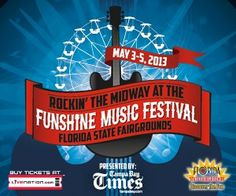 Rockin' The Midway at The Funshine Music Festival is coming to Tampa 5/3-5/5!