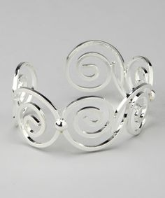 Take a look at this Silver Sarah Cuff by Elly Preston Jewelry on #zulily today!