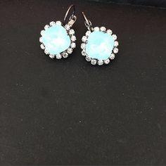 Pacific Opal Halo Earrings by PrettyInCrystal on Etsy