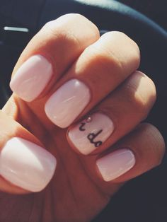 The cutest wedding nails! So simple, yet so sweet. Wedding Goals, Our Wedding, Dream Wedding, Wedding Shit, Wedding Stuff, Cute Nails, Pretty Nails, Wedding Manicure, Wedding Hair And Makeup