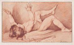 Edme Bouchardon, L'Automne: Enfant couché sur le dos, les bras levés. Cambridge, The Horvitz collection. © The Horvitz Collection, Boston