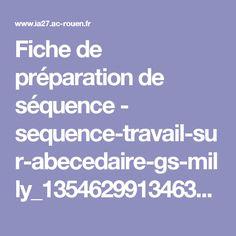 Fiche de préparation de séquence - sequence-travail-sur-abecedaire-gs-milly_1354629913463-pdf