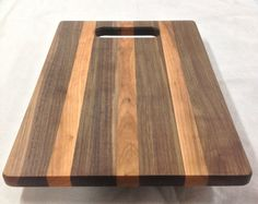 Walnut and Cherry Cutting Board by District14WoodworkCo on Etsy