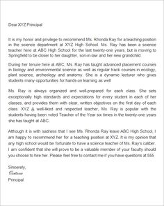 Student teacher recommendation letter examples letter of sample cover letter for college teaching position cover letter sample for student placement spiritdancerdesigns Choice Image