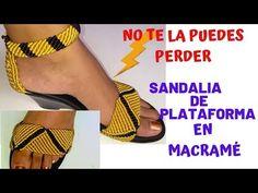 SANDALIA en macramé de PLATAFORMA. 👍😍Paso a PASO. parte 1/3 - YouTube