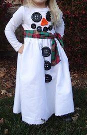 Tutorial: Snowman button dress