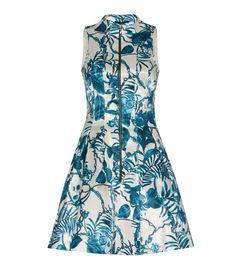 CUE - Teal Floral Print Dress