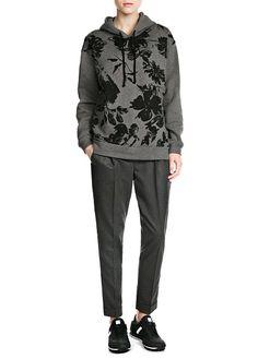 PREMIUM - Floral hoodie