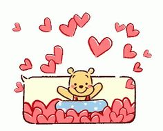 Winnie The Pooh Hearts GIF - WinnieThePooh Hearts Pool - Discover & Share GIFs