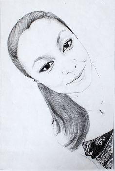 https://flic.kr/p/FJFC1s | female portrait, pencil drawing by Kirillnbb