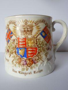 Antique Aynsley Diamond Jubilee Queen Victoria 1837 - 1887 The Longest Reign | eBay