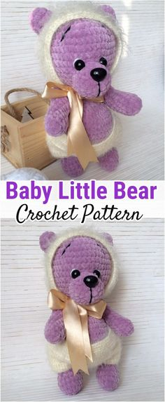 I have rounded up a huge list of free crochet teddy bear patterns for you to get inspired by these cute and soft teddy bears. You could absolutely make them with your own crochet hooks Crochet Teddy Bear Pattern, Crochet Dolls Free Patterns, Crochet Baby Toys, Crochet Bunny, Amigurumi Patterns, Free Crochet, Crochet Car, Crocheted Animals, Animal Knitting Patterns