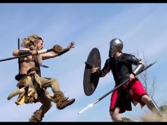 Now this is an epic sword fight! In a choreographed fight between a barbarian and a Spartan, who will win? Male Pose Reference, Fighting Poses, Sword Fight, Dynamic Poses, Male Poses, Barbarian, Mud, Anatomy, Weapons