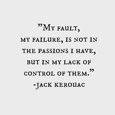 Kerouac's passions