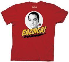 Big Bang Theory Sheldon Bazinga! Men's T-Shirt $9.99
