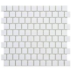 The SomerTile 10.75x11.75-in Victorian Square 1-in Glossy Offset Porcelain Mosaic Tile (Pack of 10) is now on sale through Overstock.com through Thursday 10/9! Get this beautiful, versatile tile for your walls or floor.