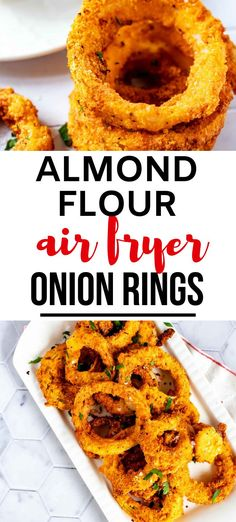 Onion Rings without the carbs? Count me in! These Almond Flour Keto Onion Rings are every bit as good as the original. Crispy goodness will keep you coming back for more. #kickingcarbs #appetizers #keto #onionrings