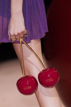 Undercover at Paris Fashion Week Spring 2015 -cherry bomb purse Fashion Bags, Fashion Accessories, Paris Fashion, Fashion 2015, Fashion Weeks, Fashion Spring, Use E Abuse, Brass Knuckles, By Any Means Necessary