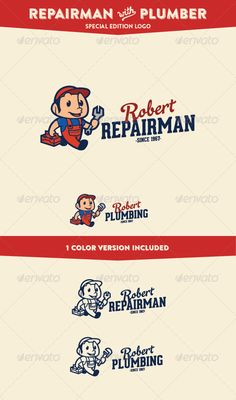 Repairman & Plumber Service & Maintenance	 Logo Design Template Vector #logotype Download it here: http://graphicriver.net/item/repairman-plumber-service-maintenance-logo/7451111?s_rank=860?ref=nesto