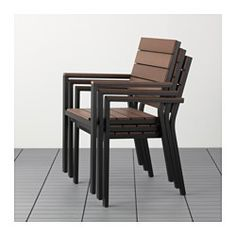 Ikea Falster Armchair Outdoor Blackbrown Can Be Stacked Which Helps You  Save Spaceyou Can Make Your