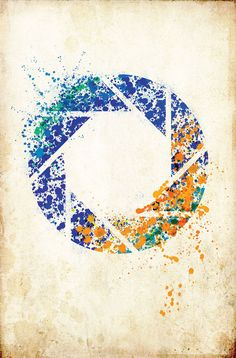 Portal Spatter Art by BlueBoxesEtc on Etsy