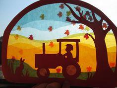 Waldorf Transparentbild Herbst von Puppenprofi auf DaWanda.com