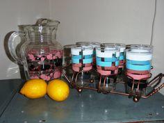 Pitcher & Glass set Lemonade glass set by kickstartvintage on Etsy
