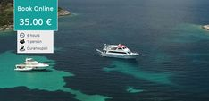 Depart from Ouranoupoli port and we sail around the turquoise waters of Sithonia Halkidiki Greece Cruise Prices, Halkidiki Greece, Cruise Offers, Underwater Sea, Beach Bbq, Tickets Online, Us Sailing, Crystal Clear Water, Turquoise Water