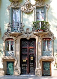 Doors in Spain………I SWEAR -- THESE DOORS AND WINDOWS ARE --- W A V Y ---…………….ccp