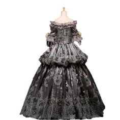 157d08f530f Amazon.com  Gray Hallowmas Medieval Dress Renaissance Costume Victorian  Gothic Marie Antoinette  Clothing