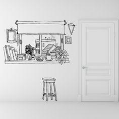 Coffee Window wall sticker by Martin Tognola