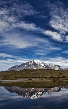 Taking a moment to reflect in Patagonia.