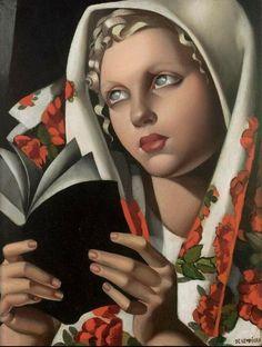 Tamara Lempicka: The Polish Girl, 1933. #painting Look at those ghostly eyes.