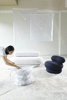 Christian Hammer Juhl and Jade Chan have created a series of whimsical furniture items that respond to people's changing requirements. London Design Festival, Young Designers, Eindhoven, Bassinet, Industrial Design, Graduation, Christian, Interior, Jade