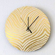 Gold Wall Clock. #LauraTrevey #BrightBoldBeautiful