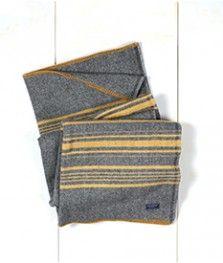 Throw, Weekender Stripe Charcoal/Gold