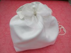 White Matt Satin Wedding Bridal Bag - White Matt Satin Holy Communion Dolly Bag. , http://www.amazon.co.uk/gp/product/B00802ISQI/ref=cm_sw_r_pi_alp_8sKFrb1G9ZP84