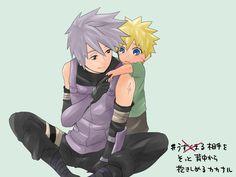 Cute Kakashi and Naruto by Natz002 on DeviantArt