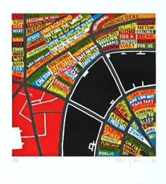 Stanley Donwood, London, 2011, 7 colour silkscreen print,64 x 58 cm, edition 15/100