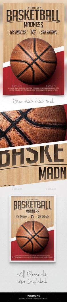 Basketball Flyer Horizontal  Basketball Sports And Flyers