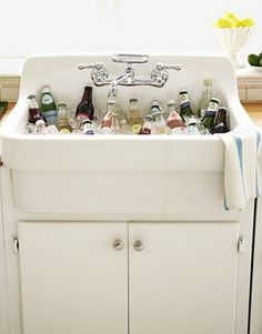This would be awesome at the wedding if we find an old sink in the barn--totally!