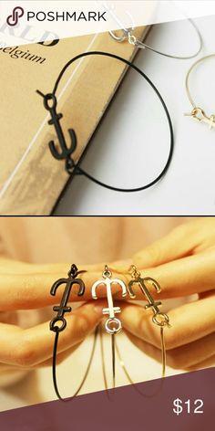 ➡COMING SOON⬅ Mini BLACK Anchor bracelet CUSTOM Fashionable Trendy Black anchor bracelet!  Spring ring clasp, Zinc alloy, 5.8cm. boutique  Jewelry Bracelets