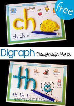 Digraph Playdough Mats - Playdough To Plato