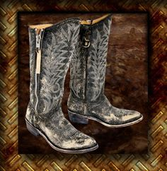 By far the most beautiful boots I have ever seen...I think I need to upgrade from my vintage-styled Justin's.  Go Pokes!