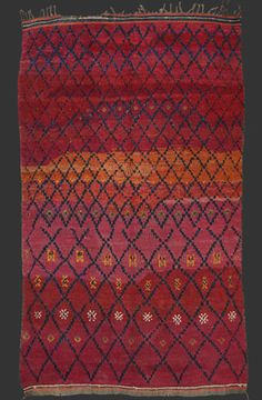 TM 180, rare medium size Beni Mguild pile rug, central Middle Atlas, Morocco, 1940, 230 x 155 cm (7' 7'' x 5' 1''), p.o.a.
