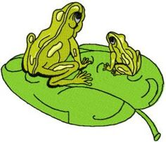 two frogs free machine embroidery design. Machine embroidery design. www.embroideres.com